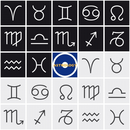 Zodiac Sign Horoscope Stock Vector - 16560458