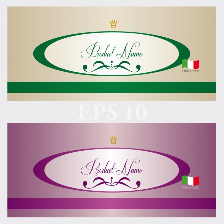 Two cards for food Vector