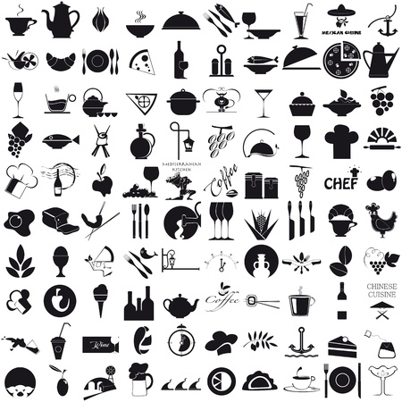 Icons for the gastronomy Stock Vector - 20936296