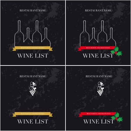festival of the grape harvest: Cover for list of wines
