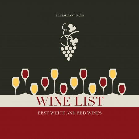 wine list: Cover for list of wines