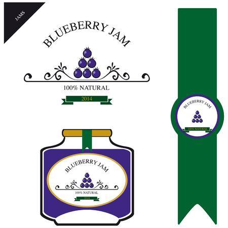 blueberry jam: Label for blueberry jam