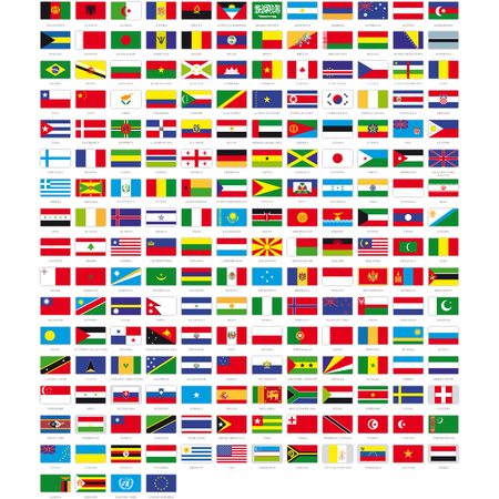 Flags of the world Reklamní fotografie - 47665425