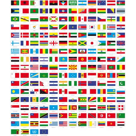 krajina: Vlajky světa Ilustrace