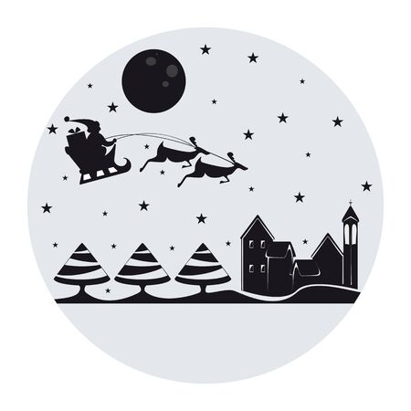 santa sleigh: Simple Christmas representation