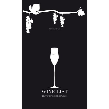 Cover for the wine menu Illustration