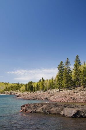 Typical rocky coastline on the northern shores of lake superior