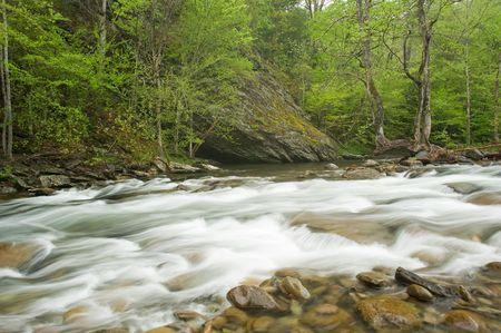 A fast flowing stream in Smoky Mountain N.P., Tenn. photo