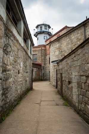 penitentiary: The guardhouse sits atop the abandoned prison in eastern Pennsylvania  Stock Photo