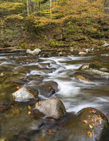 flowing river: Flowing river in eastern Tennessee . Stock Photo