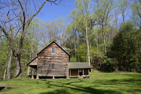 tennesse: Casa histórica en Cades CoveSmokey Montaña NP Tennessee.