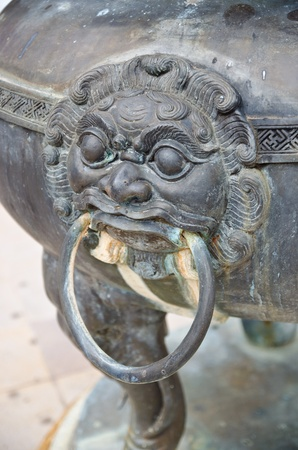 Old handle of the Incense burner,Thailand