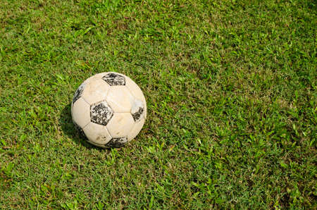 Old football in an old field