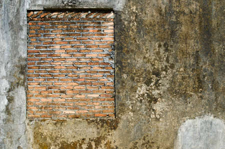 Very old brick wall, East of Thailand  photo