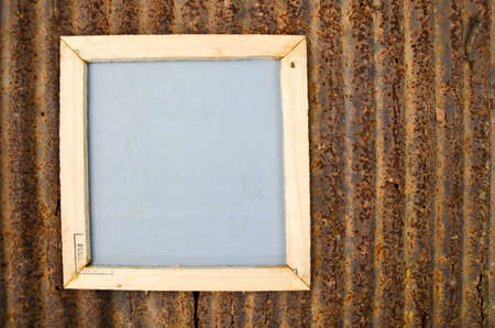 Notepad frame with zinc plate background