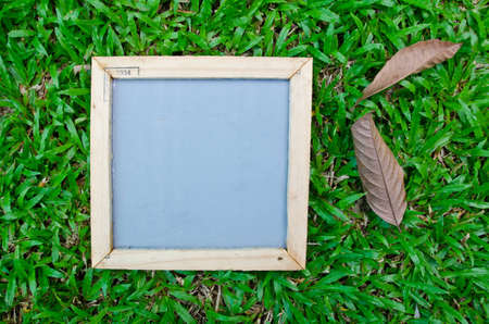 Notepad frame with nature background