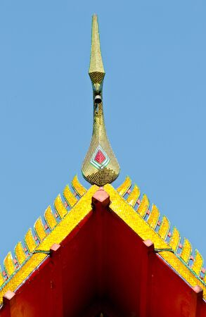 Roof top of buddish temple from thailand photo