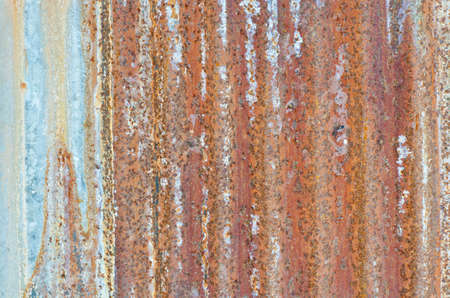 Old and very rusty wall
