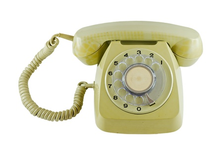 Old phone with isolated background Stock Photo - 19458093