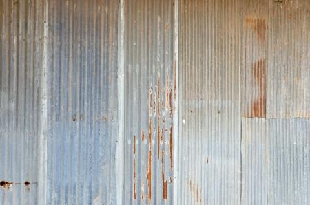 zinc:  Old rough zinc wall