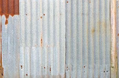 corrugated iron:  Very rusty old zinc wall