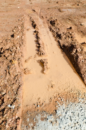 Dirt track closeup Stock Photo
