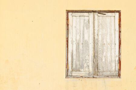 Old dirty window photo