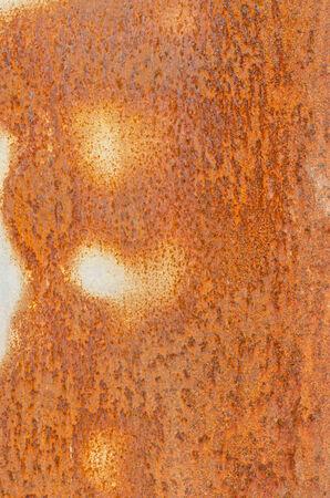 Rusty damage steel plate