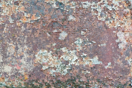 corrugated steel: Very Old rusty damage steel floor