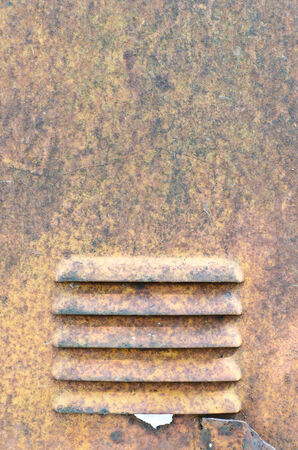 corrugated steel: Rusty steel surface for background use Stock Photo