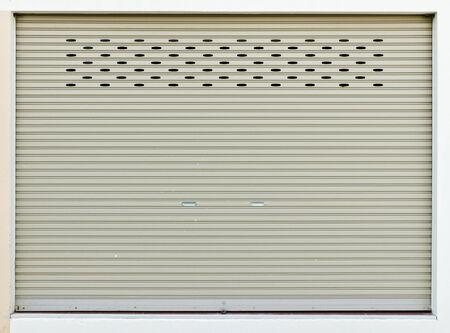 New roller door Stock Photo