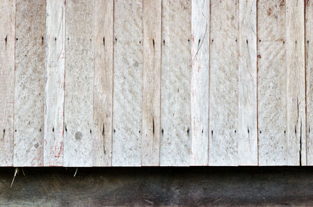 Old hardwood wall of very old house Stock Photo