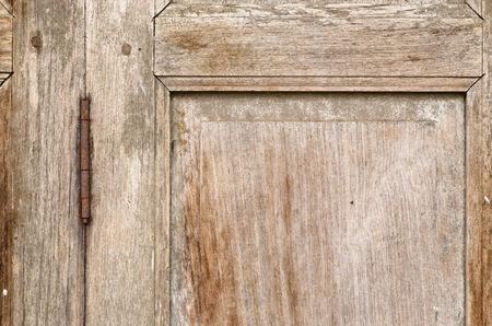 hinge: Rusty old door hinge Stock Photo