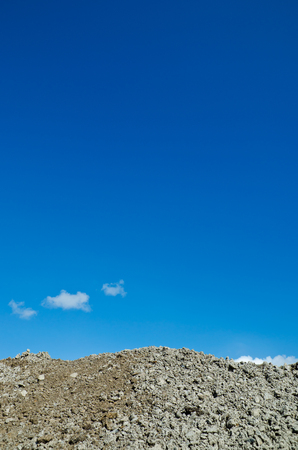 Closeup to mound with blue sky in back Stock Photo