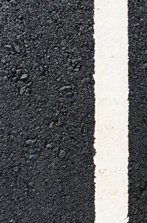 New asphalt road with white line Stock Photo