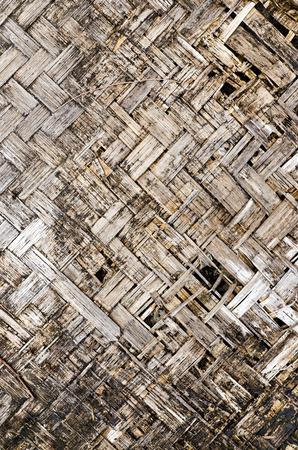 Closeup dirty damage bamboo mat