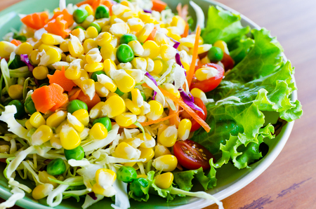 Closeup dish of salad Stock Photo