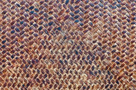 Closeup old dirty bamboo wall