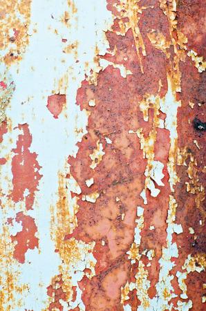 Rusty damage steel closeup