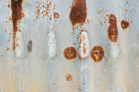 Old damage rusty steel plate