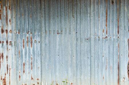 Old damage rusty zinc plat wall