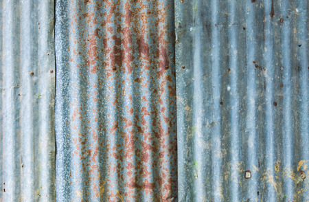 Rough old zinc plate wall Stock Photo