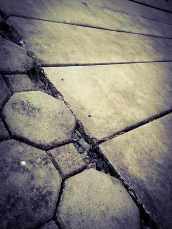Closeup image of rough concrete floor Stock Photo