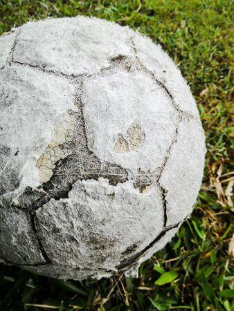Closeup image of an old damage ball