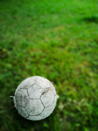 Closeup image of old damage ball