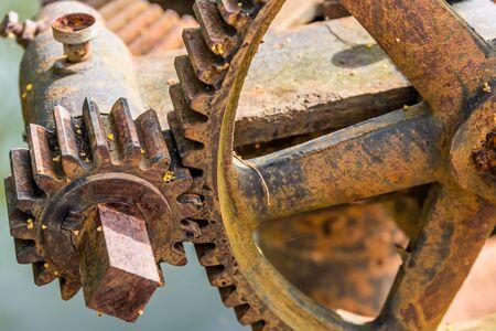 Old rusty steel gear