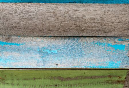 Old color hardwood plank closeup