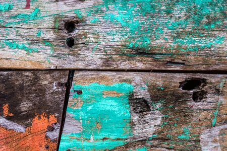 Old rusty color hardwood plank closeup for background user Stock Photo