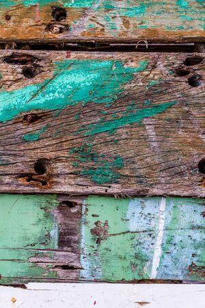 Old rusty color hardwood plank closeup Stock Photo