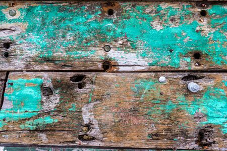 Old rusty color hardwood planks for background user Stock Photo